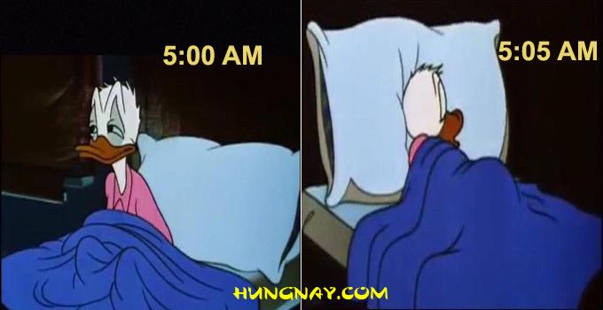 khó khăn khi dậy sớm