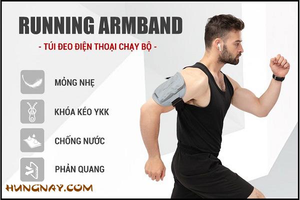 túi đeo điện thoại chạy bộ Running Armband